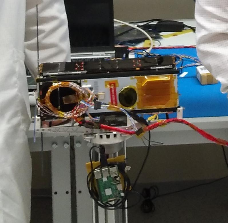 ESA OPS-SAT on NanoSat Air Bearing